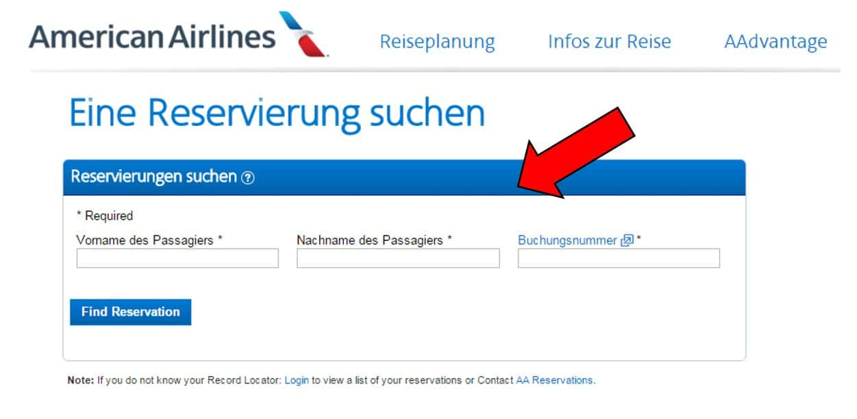 American Airlines Online Check In
