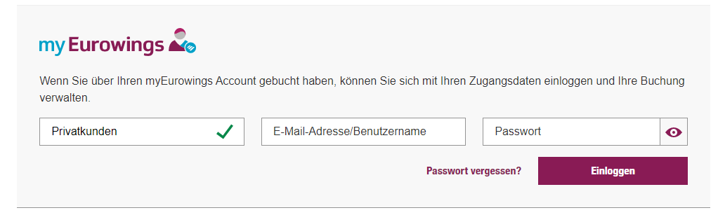 Germanwings Online Check In