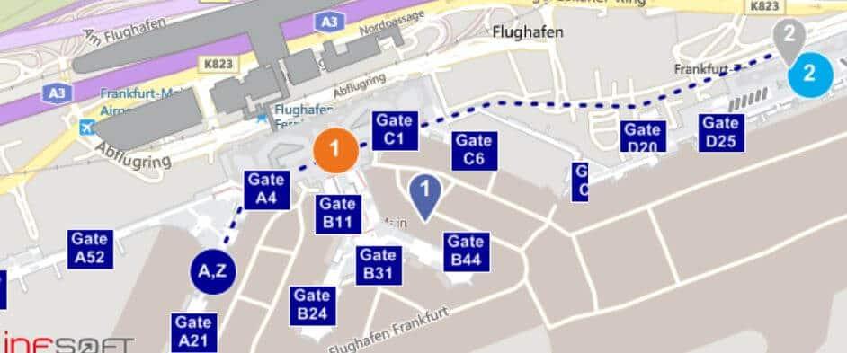 Frankfurt Check In Terminals Übersicht