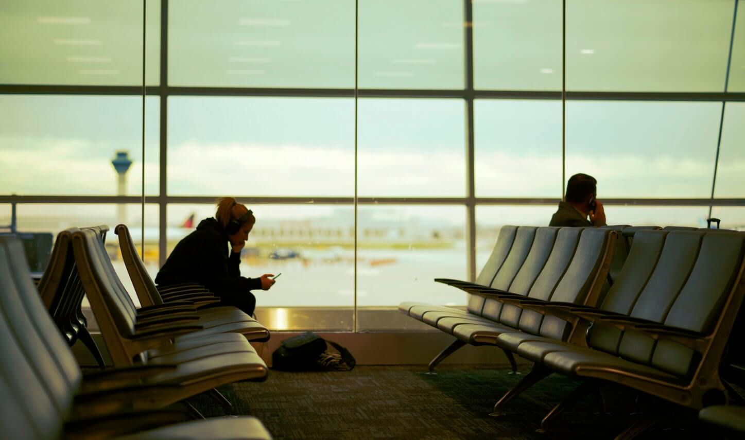 Check In am Flughafen Wien